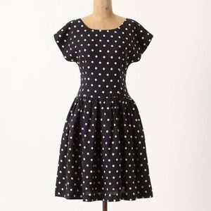 Anthropologie Lilli's closet polka dot blue dress